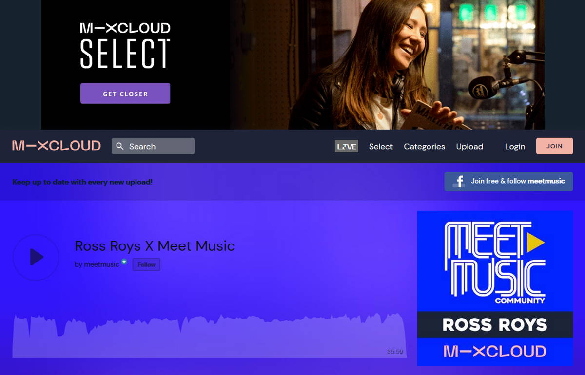 Ross Roys: un dj set su MixCloud per Meet Music