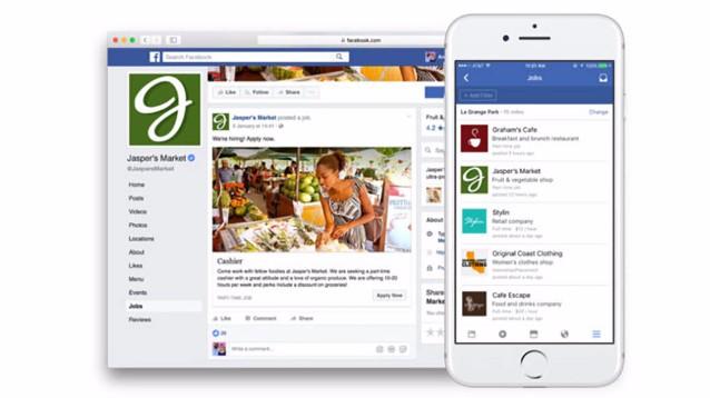Facebook lancia Facebook Jobs, ed è sfida aperta con Microsoft Linkedin