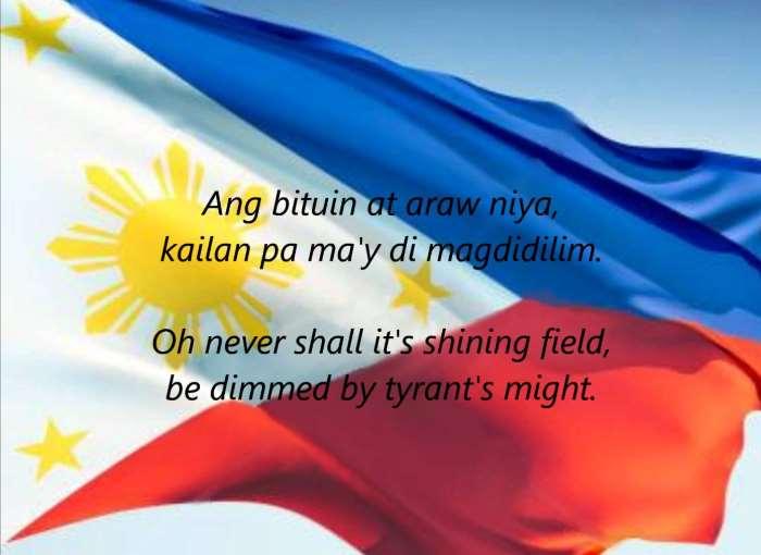 Non canti l'inno nazionale con convinzione? Nelle Filippine potresti essere multato
