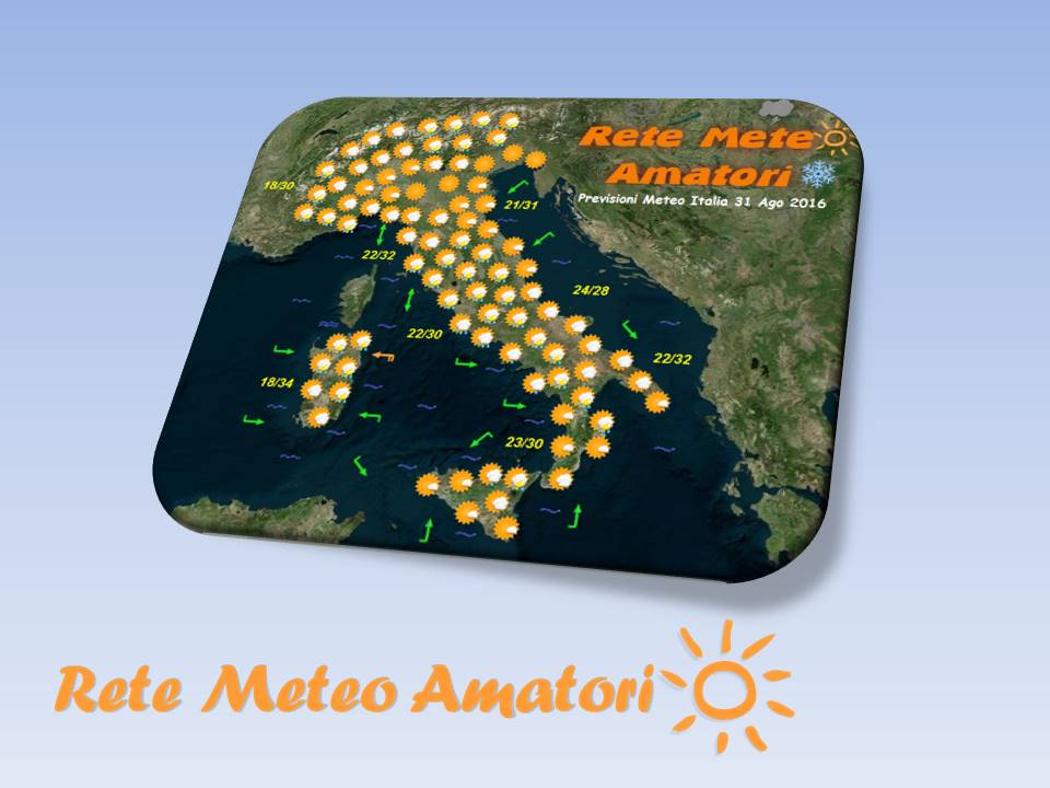 Previsioni Meteo Italia per il 1 Ottobre 2016