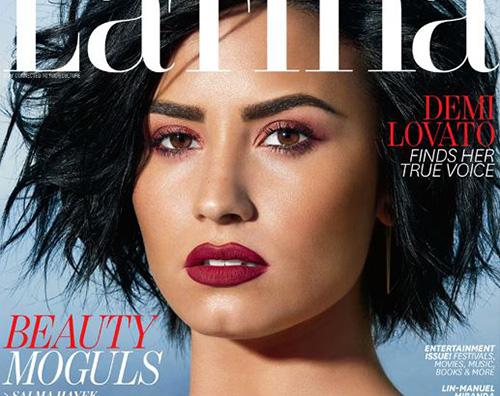 Demi Lovato sulla cover di Latina Magazine