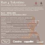 """""""Run 4 Tolentino"""": corsa benefica per la ricostruzione post sisma, domenica 17 e 24 settembre"""