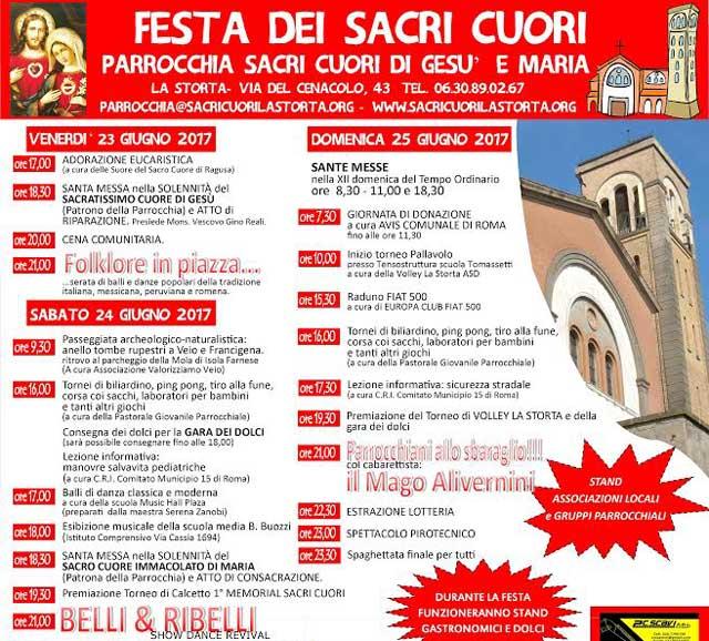 La Storta, festa dei Sacri Cuori dal 23 al 25 giugno