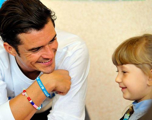 Orlando Bloom in Ucraina per UNICEF