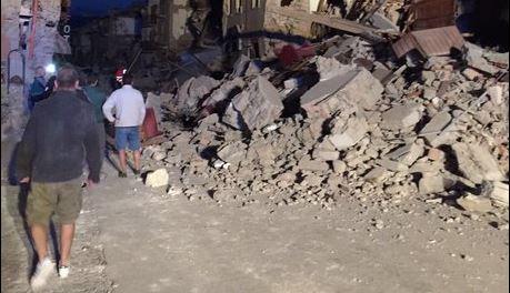 Fortissimo terremoto in Provincia di Rieti. Drammatica situazione ad Accumoli e Amatrice. Si temono molti morti e feriti