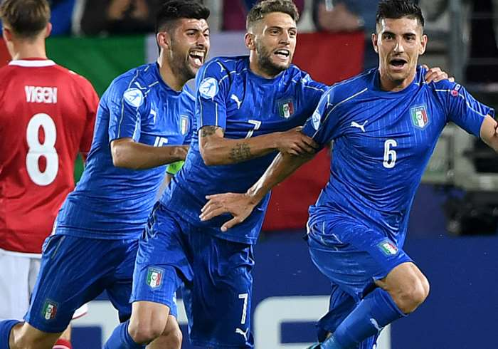 Italia batte Danimarca 2-0 all'esordio degli Europei Under 21