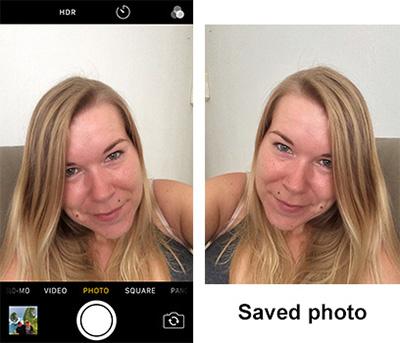 Usare Iphone come specchio. Scattare selfie a specchio.