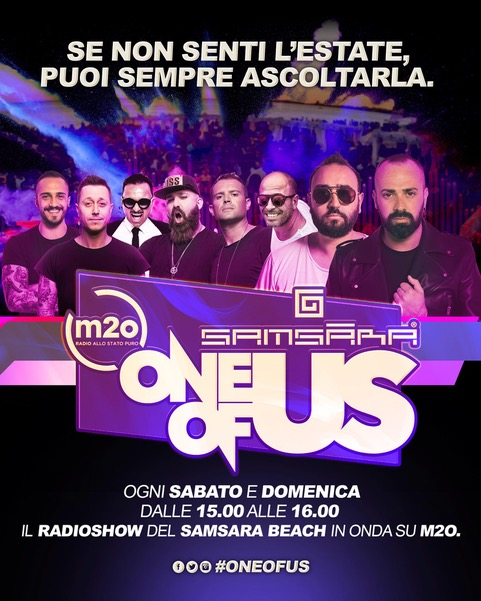 Samsara Beach: One of Us su m2o e beach party a Riccione a Pasqua e Pasquetta
