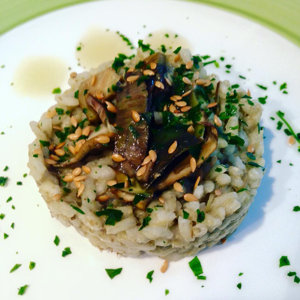 Ricetta: Risotto ai cuori di carciofo e semi di lino croccanti