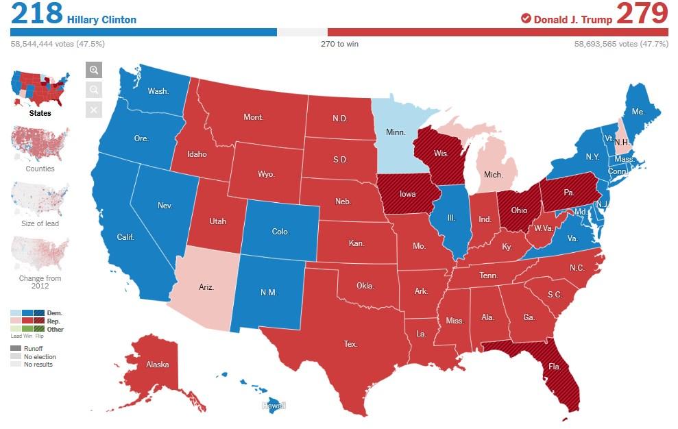 Hillary Clinton è stata sconfitta. Trump sarà il nuovo presidente degli Stati Uniti. E adesso che cosa accadrà?
