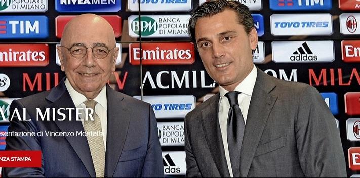 Il Milan presenta Montella, primo obiettivo, l'Europa