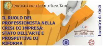 """Dottori Commercialisti Enna: seminario su """"Il ruolo del professionista nella crisi di impresa"""""""