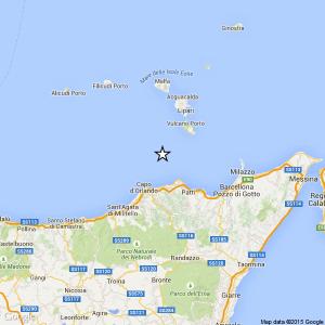 SIcilia, terremoto Ml 2.2 il 24-08-2016 ore 08:10 Costa Siciliana nord orientale Messina