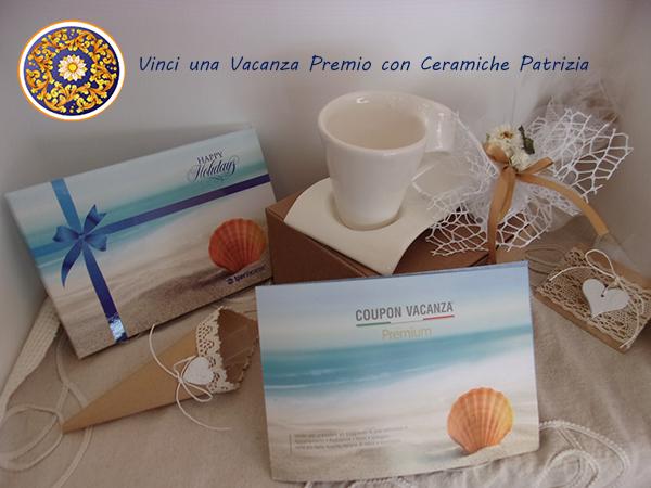 Acquistando oggetti in Ceramica Artistica Siciliana vinci Vacanze Premio