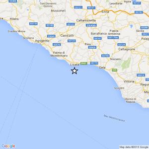 Sicilia, terremoto Ml 2.2 il 14-05-2016 ore 11:21 Costa Agrigentina