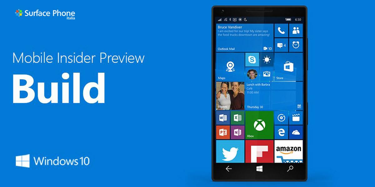 Windows 10 mobile: aggiornamento disponibile per gli utenti insider appartenenti al circuito Slow Ring