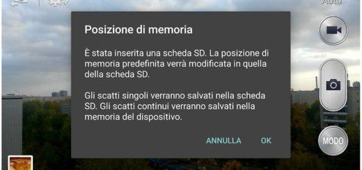 Come scambiare la memoria interna con la scheda di memoria SD esterna su Android