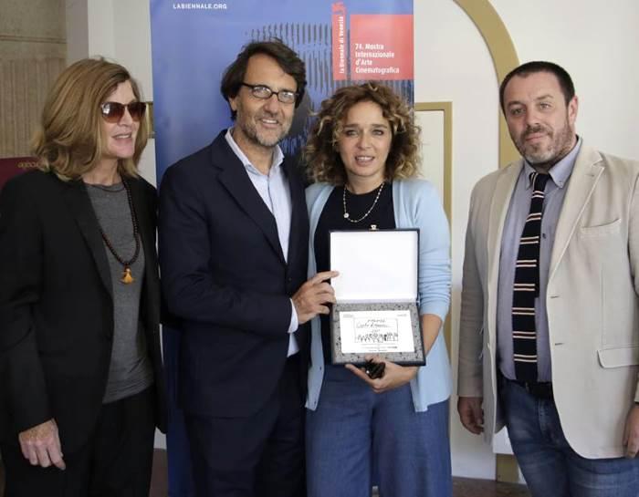 Tra gli eventi della 74.esima Mostra del Cinema di Venezia, assegnato il premio Lizzani 2017