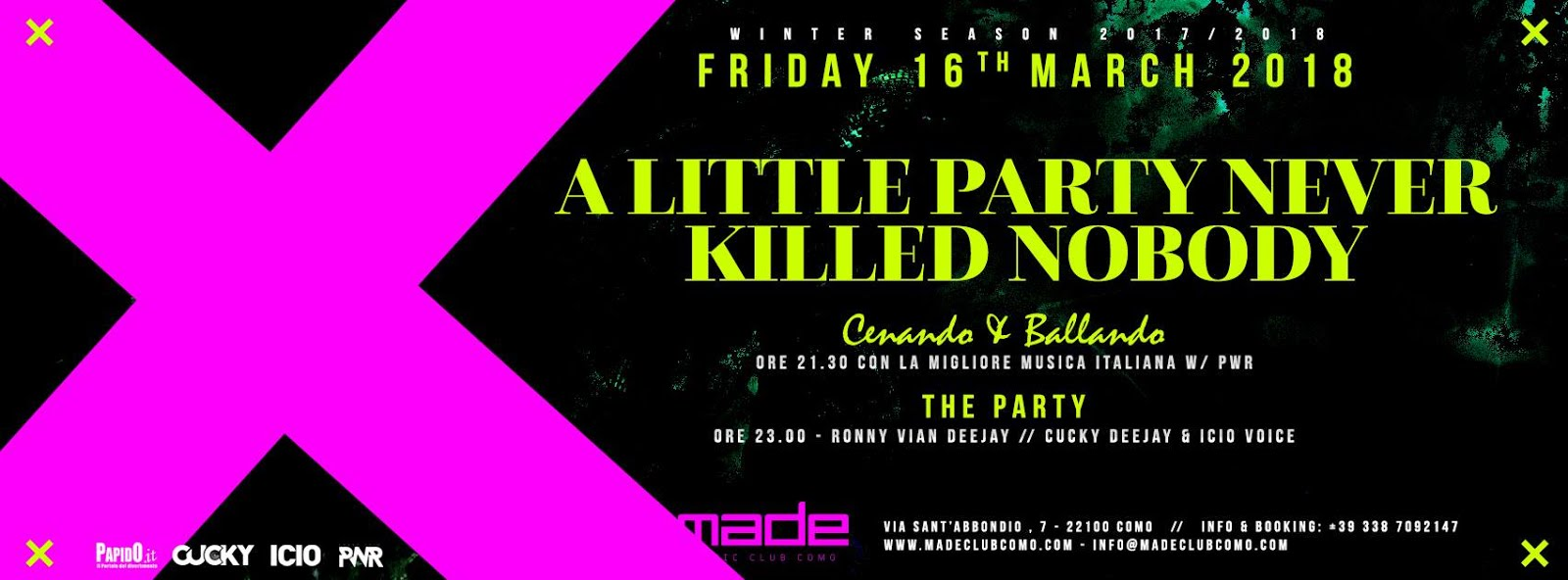 Made Club Como: A little party never killed nobody e XXL, hiphop finest in Formentera