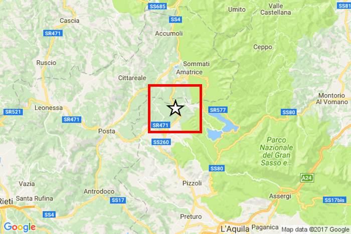 Alle 10:25 scossa di terremoto di magnitudo 5.3 a sud di Amatrice