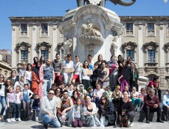 Flash mob dell'Accademia Belle Arti Catania