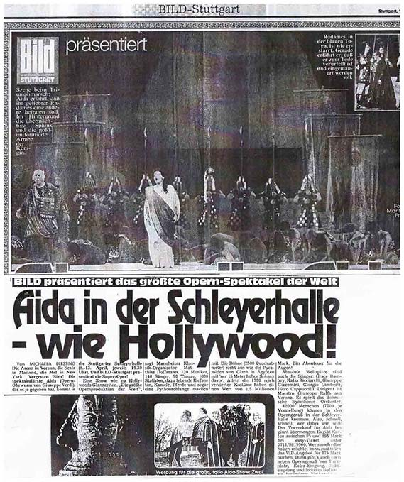 BILD presents that largest opera spectacle in the world