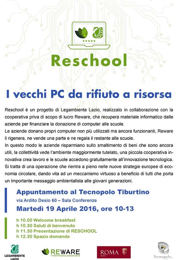 Reschool: i vecchi PC da rifiuto a risorsa al Tecnopolo Tiburtino