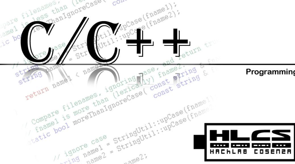 CORSO DI INTRODUZIONE ALLA PROGRAMMAZIONE C/C++