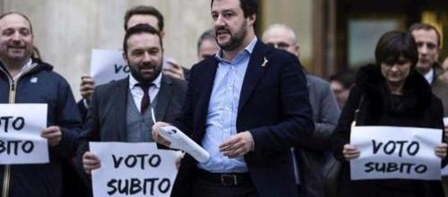 Salvini: 'Elezioni subito o scendiamo il piazza il 17 e 18 dicembre