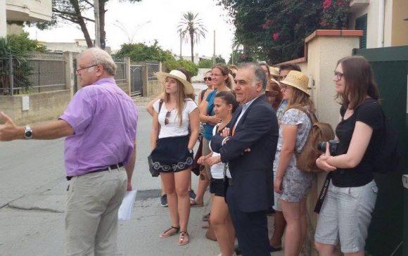 Studenti tedeschi visitano le opere dell'Arch. La Monaca