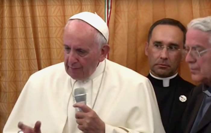 Di ritorno dall'Armenia il Papa risponde ai giornalisti su genocidio, Benedetto XVI, Lutero e gay