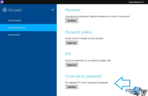 Come rimuovere password da Windows 8 e Windows 10
