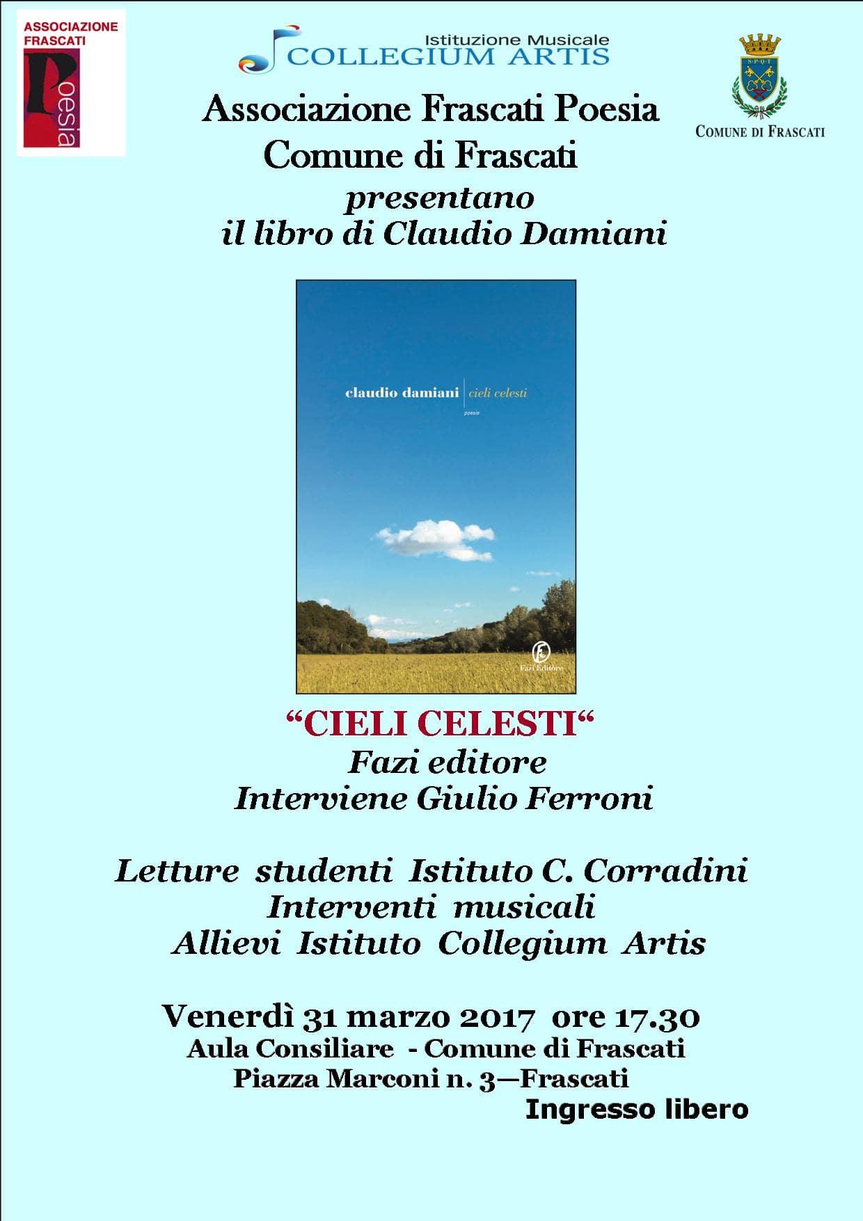 Tra musica e versi, la poesia di Claudio Damiani