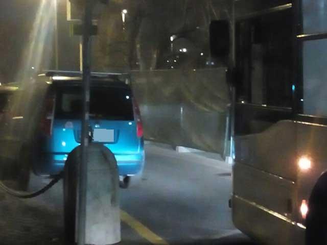 Notte di caos bus a Ponte Milvio