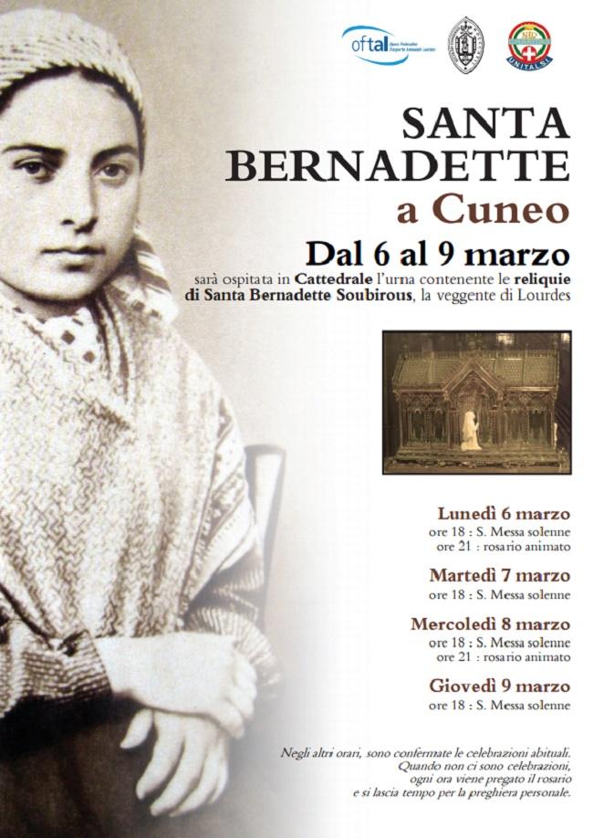 Reliquie Bernadette per quattro giorni in Duomo a Cuneo