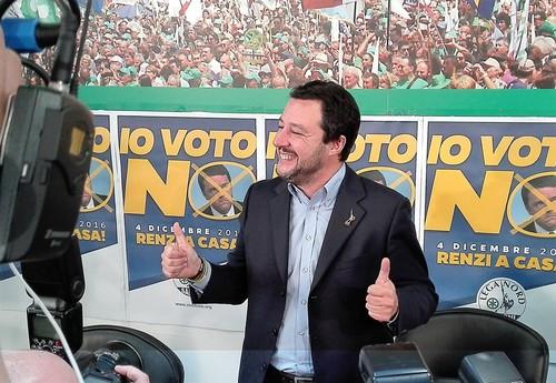Post referendum, Euforico Salvini: Renzi a casa! è una giornata di liberazione