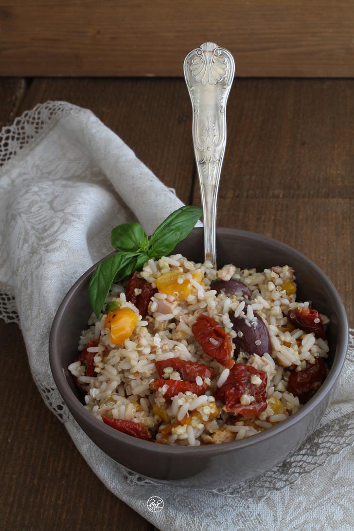 Salade multi céréales avec légumes