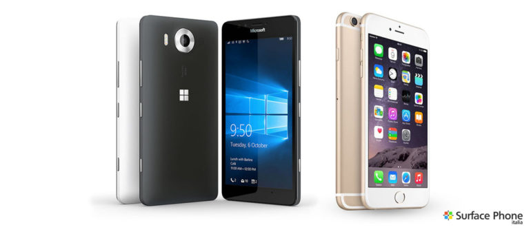 iPhone 6s e Lumia 950 a confronto: chi avrà la meglio? Scoprilo | Surface Phone Italia