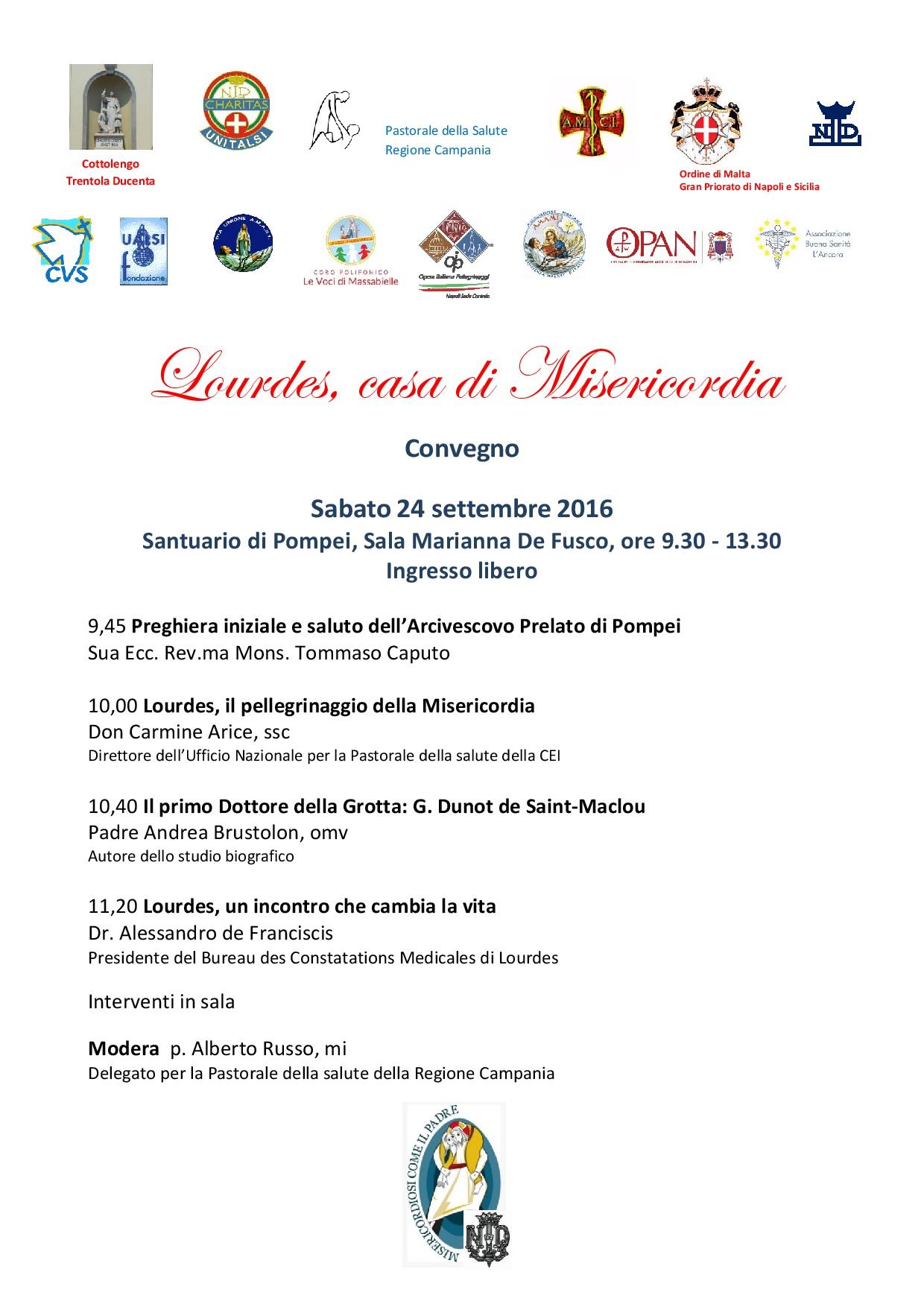 Convegno su Lourdes a Pompei