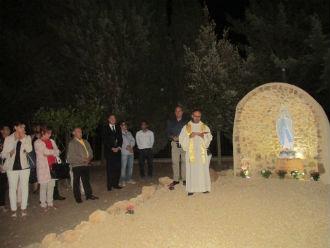 Ad Aidone esposta la statua della Beata Vergine di Lourdes