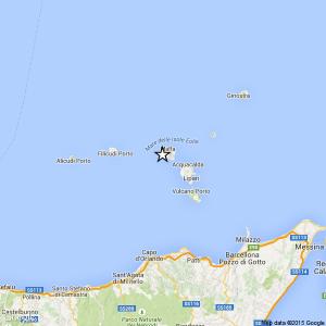Sicilia, terremoto Ml 2.4 il 18-05-2016 ore 03:13 Isole Eolie