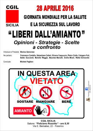 Amianto: dibattito della Cgil su stato bonifiche in Sicilia