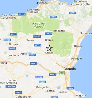 Fenomeni sismici (11) ML 3.1 il 19-08-2017 dalle ore 13:29 ad Adrano (CT)