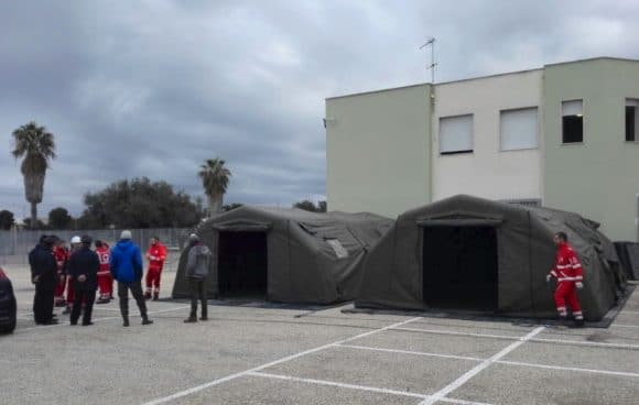Due tende per i migranti dalla Croce Rossa di Castelvetrano