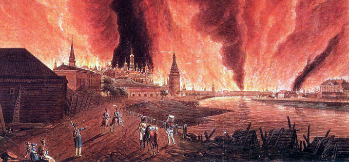 14 settembre 1812: L'esercito russo incendia Mosca