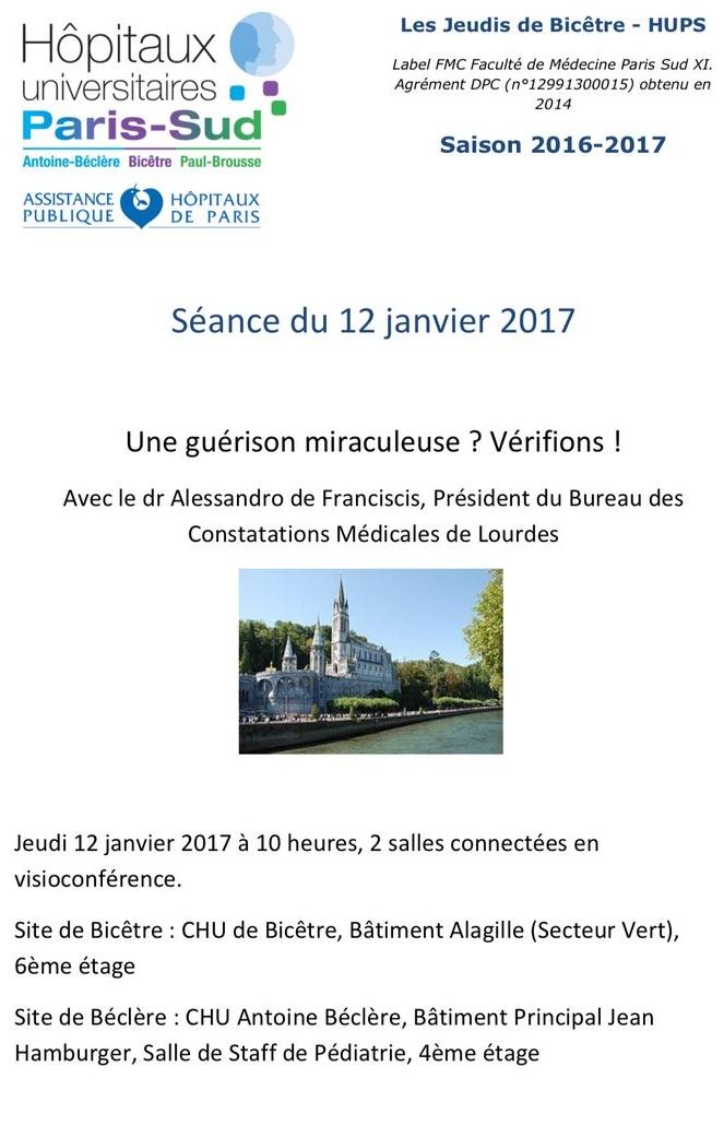 A Parigi si parlerà di Lourdes