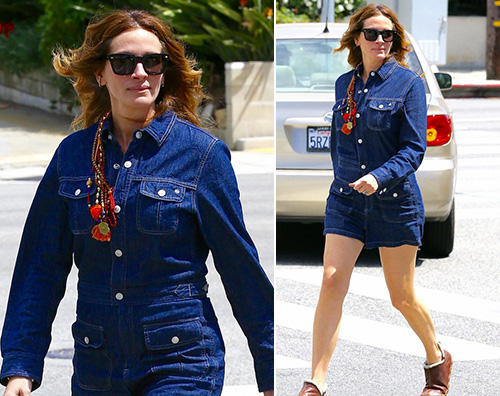 Julia Roberts ed il look improponibile a Santa Monica