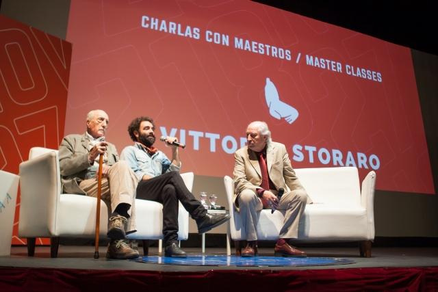 Il Maestro della fotografia cinematografica Vittorio Storaro affascina il pubblico del Festival di Mar del Plata