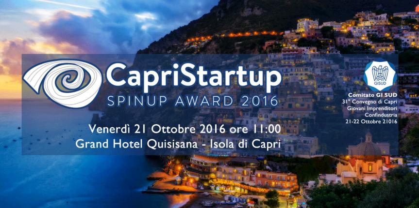 Capri Startup Competition 2016: Premio 'SpinUp 2016'