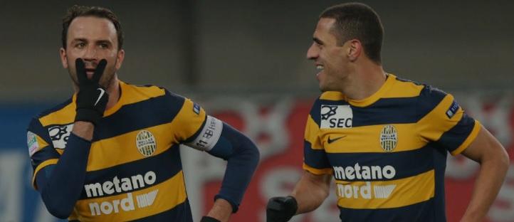 Verona da solo in testa a metà campionato, cade il Frosinone